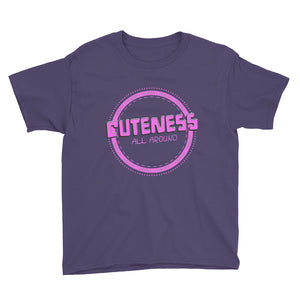 Cuteness Youth Short Sleeve T-Shirt-T-Shirt-PureDesignTees