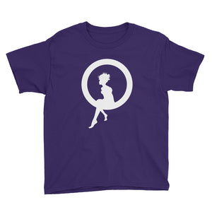 Fairy Sitting on a Ring Youth Short Sleeve T-Shirt-T-shirt-PureDesignTees