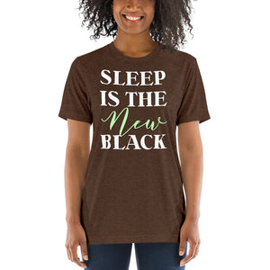 Sleep is the New Black Short sleeve t-shirt-T-shirt-PureDesignTees