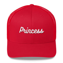 Load image into Gallery viewer, Princess Embroidered Trucker Cap-Hat-PureDesignTees