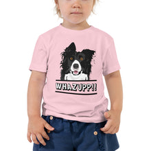 Load image into Gallery viewer, Dog Says Whazupp!! Toddler Short Sleeve Tee-Toddler T-shirt-PureDesignTees