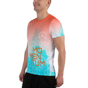 Momentum All-Over Print Men's Athletic T-shirt-Athletic T-Shirt-PureDesignTees