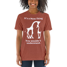 Load image into Gallery viewer, It's a Mom Thing Unisex Triblend Short Sleeve T-Shirt with Tear Away Label-Triblend T-shirt-PureDesignTees