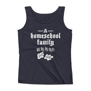 A Homeschool Family Ladies' Tank-Tank Top-PureDesignTees
