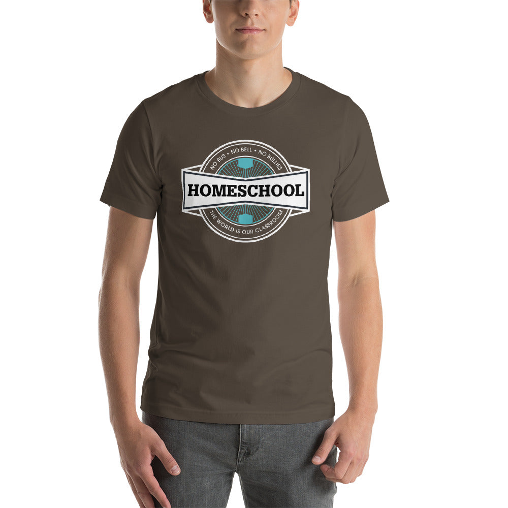 Homeschool Badge Short-Sleeve Unisex T-Shirt, t-shirt - PureDesignTees