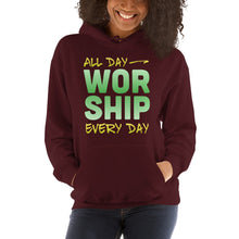 Load image into Gallery viewer, All Day Every Day Worship Hooded Sweatshirt