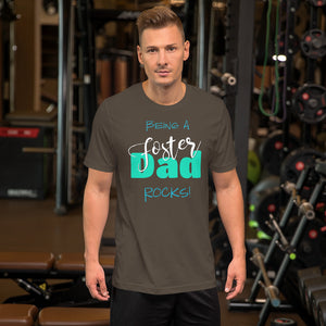 Being a Foster Dad Rocks! Short-Sleeve Unisex T-Shirt-T-Shirt-PureDesignTees