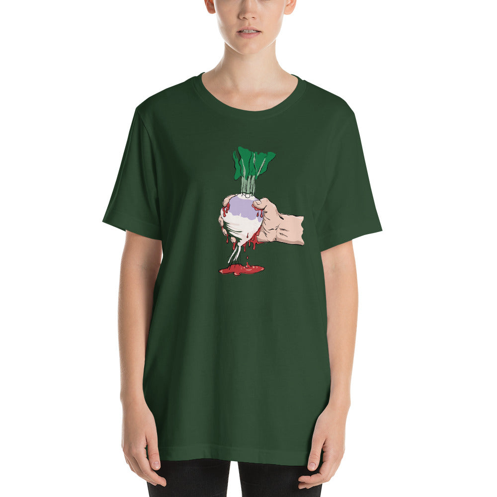Squeezing Blood From a Turnip Short-Sleeve Unisex T-Shirt-T-Shirt-PureDesignTees
