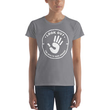 Load image into Gallery viewer, Look Out the Adults have Arrived Women's short sleeve t-shirt - PureDesignTees