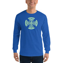 Load image into Gallery viewer, Celtic Cross Long Sleeve T-Shirt-Long sleeve t-shirt-PureDesignTees