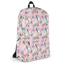 Load image into Gallery viewer, Adorable Llama Pattern in Pink Backpack-backpack-PureDesignTees