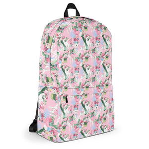 Adorable Llama Pattern in Pink Backpack-backpack-PureDesignTees