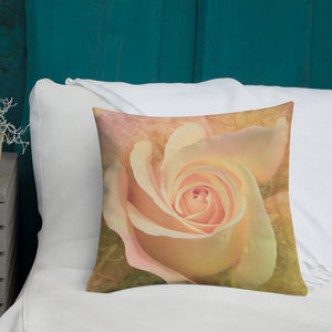 Pastel Rose Premium Pillow-Premium Throw Pillow-PureDesignTees