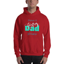 Load image into Gallery viewer, Being a Foster Dad Rocks Hooded Sweatshirt-Hoodie-PureDesignTees