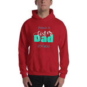 Being a Foster Dad Rocks Hooded Sweatshirt-Hoodie-PureDesignTees