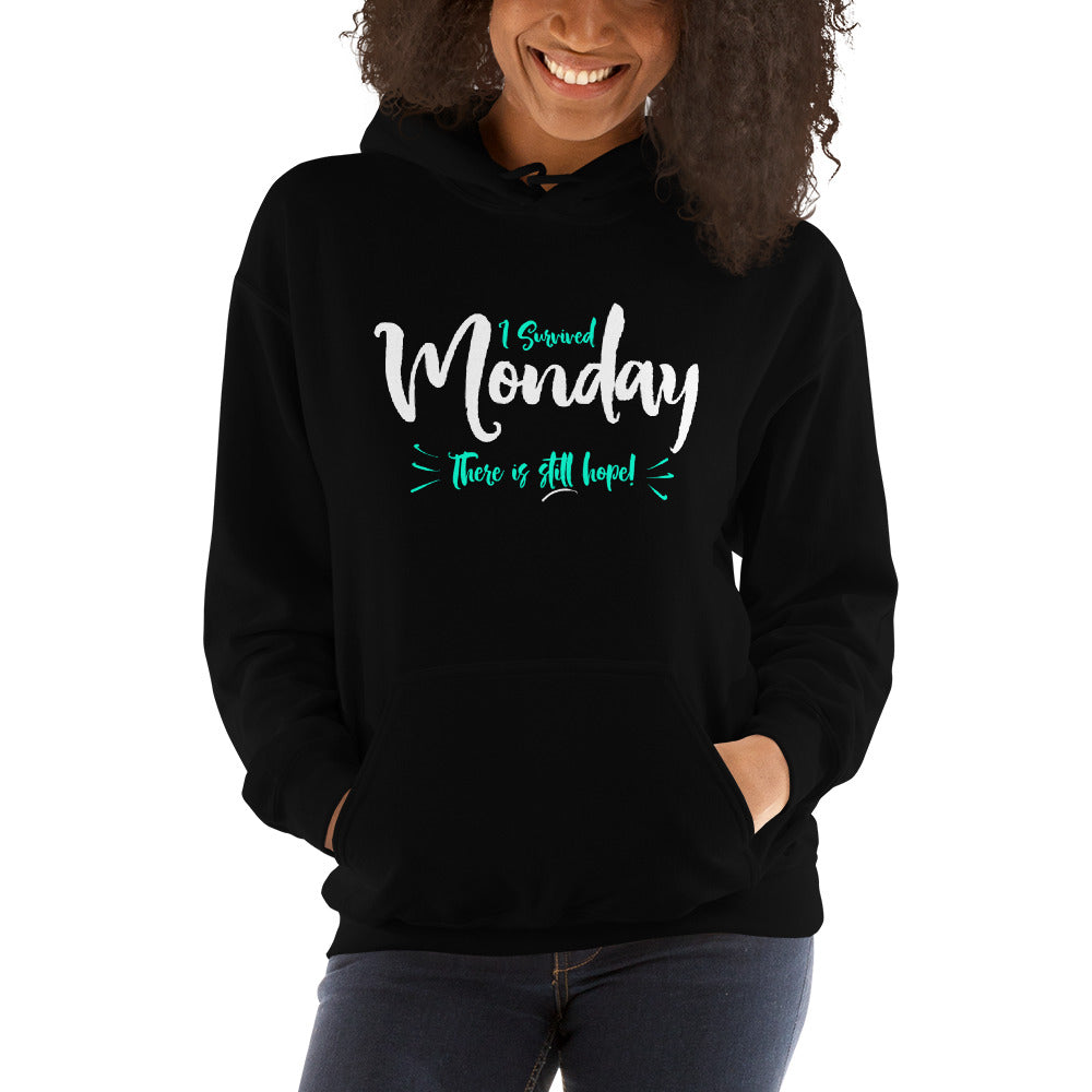 I Survived Monday Hooded Sweatshirt-hoodie-PureDesignTees