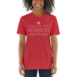 Sugar and Spice and Everything Nice Tri-blend Short sleeve t-shirt-tri-blend t-shirt-PureDesignTees