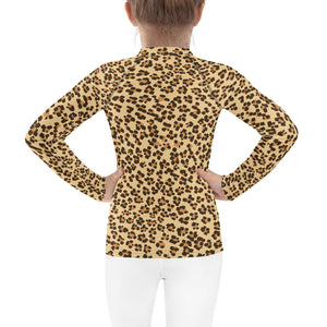 Leopard Pattern Roar Kids Rash Guard-Kids Rash Guard-PureDesignTees