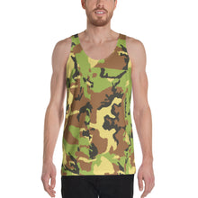 Load image into Gallery viewer, Green Camo Unisex Tank Top-Tank Top-PureDesignTees