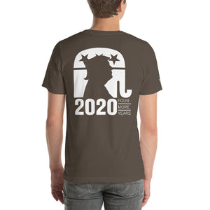 Trump 2020 Front Back and Sleeve Print Short-Sleeve Unisex T-Shirt-t-shirt-PureDesignTees