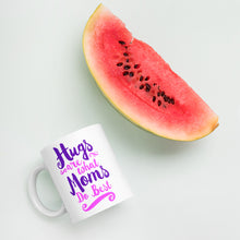 Load image into Gallery viewer, Hugs are What Moms Do Best White Glossy Mug-Coffee Mug-PureDesignTees
