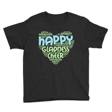 Load image into Gallery viewer, Happy Heart Youth Short Sleeve T-Shirt-T-shirt-PureDesignTees