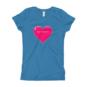 Happy Valentine's Day Girl's T-Shirt - PureDesignTees