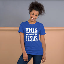Load image into Gallery viewer, This Generation Needs Jesus Short-Sleeve Unisex T-Shirt-T-Shirt-PureDesignTees