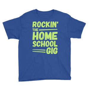 Rockin' the Homeschool Gig Youth Short Sleeve T-Shirt, T-Shirt - PureDesignTees