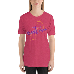 Cat Mom Short-Sleeve Unisex T-Shirt-PureDesignTees