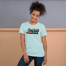 Load image into Gallery viewer, Greatest Mom Ever Unisex Short Sleeve Jersey T-Shirt with Tear Away Label-t-shirt-PureDesignTees