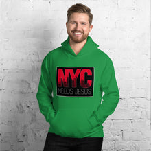 Load image into Gallery viewer, NYC Needs Jesus Unisex Hoodie-Hoodie-PureDesignTees