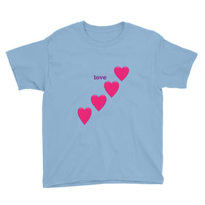 Love and Hearts Youth Short Sleeve T-Shirt-T-shirt-PureDesignTees