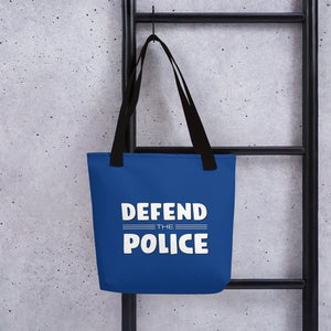 Defend the Police Pro-Police Tote bag-Tote-PureDesignTees