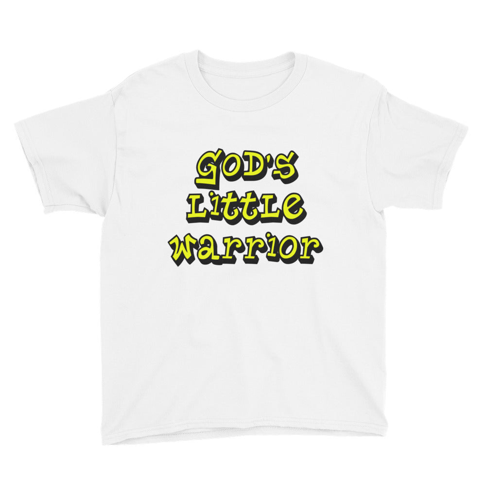 God's LIttle Warrior Youth Short Sleeve T-Shirt-T-Shirt-PureDesignTees