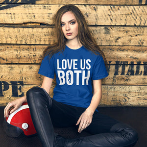 Love Us Both Pro-Life Short-Sleeve Unisex T-Shirt-T-Shirt-PureDesignTees