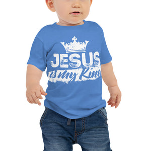 Jesus is My King Baby Jersey Short Sleeve Tee-Baby Jersey-PureDesignTees