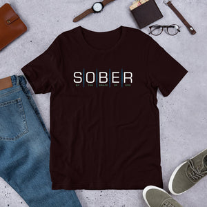 Sober By the Grace of God Short-Sleeve Unisex T-Shirt