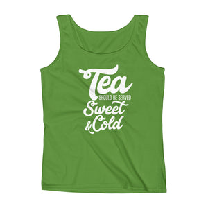 Tea Should be Served Sweet & Cold Ladies' Tank, Tank Top - PureDesignTees