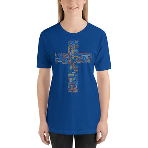 Christian Cross Word Cloud Short-Sleeve Unisex T-Shirt-T-shirt-PureDesignTees