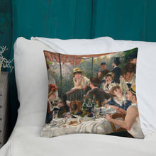 Load image into Gallery viewer, Renoir The Boating Party Lunch Premium Pillow-throw pillow-PureDesignTees