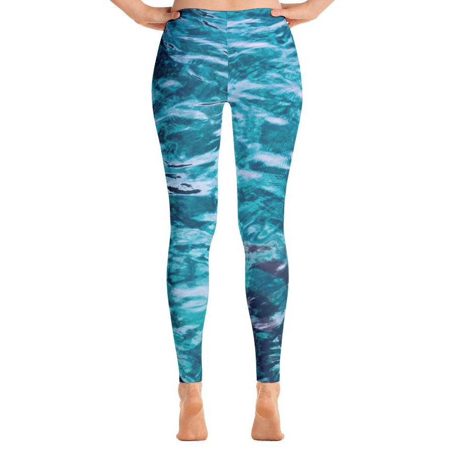 Beautiful Sea Leggings-Leggings-PureDesignTees