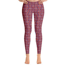 Load image into Gallery viewer, Red and Blue Abstract All-Over Print Leggings-leggings-PureDesignTees