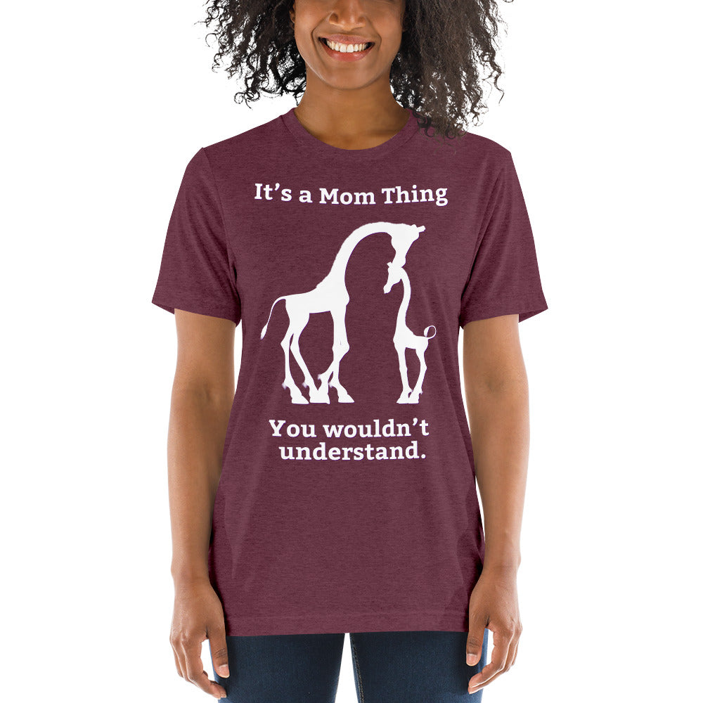 It's a Mom Thing Unisex Triblend Short Sleeve T-Shirt with Tear Away Label