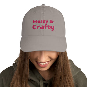Messy & Crafty Embroidered Champion Baseball Cap-baseball cap-PureDesignTees
