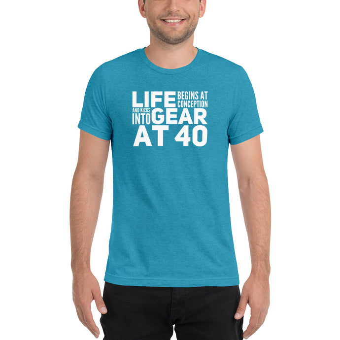 Life Begins at Conception Tri-Blend Short sleeve t-shirt