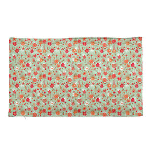 Red Flowers Rectangular Pillow Case only-Pillowcase-PureDesignTees