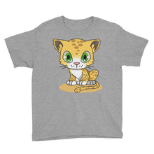 Load image into Gallery viewer, Cute Leopard Cub Youth Short Sleeve T-Shirt