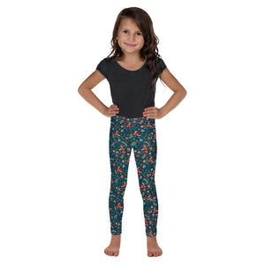 Flying Swallow Pattern Kid's Leggings-Leggings-PureDesignTees