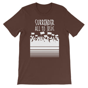 Surrender All to Jesus Unisex short sleeve t-shirt-T-Shirt-PureDesignTees